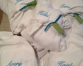 Set of 10 BRIDESMAID Personalized Bath SPA ROBES