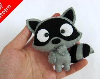 Raccoon Plush PDF Pattern -Instant Digital Download
