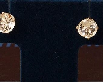 2 Carat White Sapphire Sterling Stud Earrings, Sapphire earrings, Birthstone studs