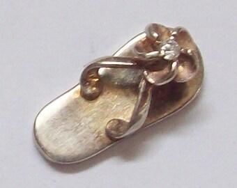 Sandal Sterling Silver Pendant / Charm