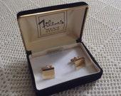 Vintage Cuff Links 14K Gold Overlay Filene's Box