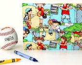 Batter up Deluxe Crayon Wallet, Ready to ship, Crayon organizer, Children's coloring toy, Art wallet, Stocking stuffer, Holiday travel toy