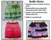 Girl's Custom Knit Ruffle Skirts