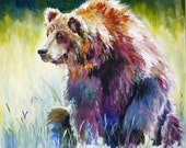 Rainbow Bear art print by Maure Bausch