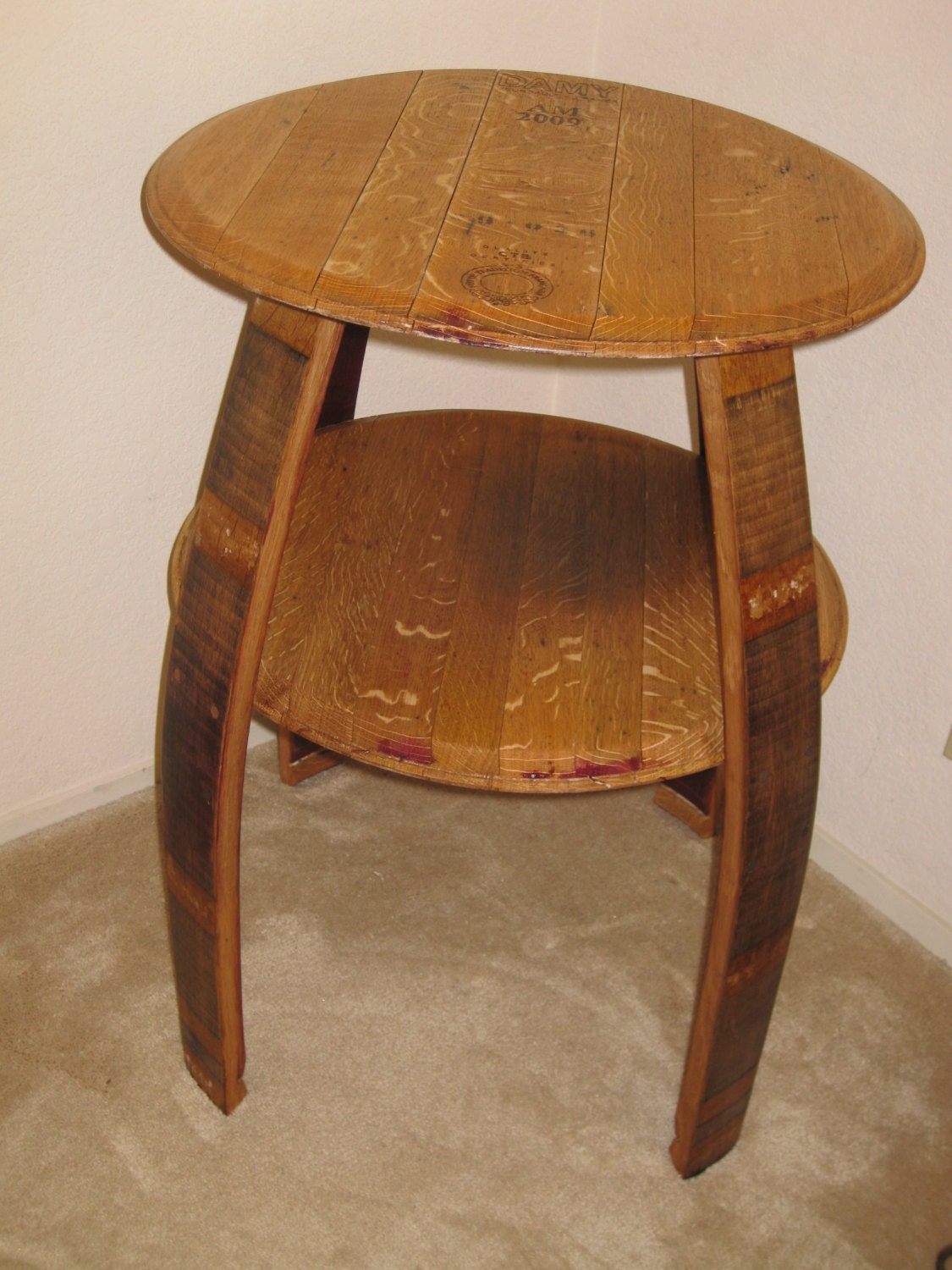 Wine Barrel Double Top Table By TheValleyBarrel On Etsy