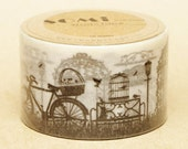 2 DOLLAR SALE - Washi Tape - Black and White Garden 30mm