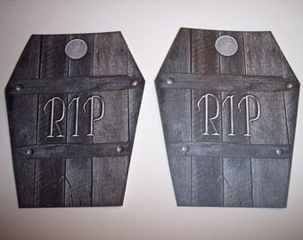 RIP Coffin Journaling Tags set of 5