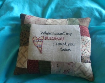 count blessings pillow
