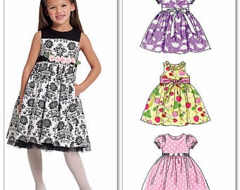 Little Girls' Sunday Dress Pattern, Girls' Classic Dress Pattern, Toddlers' Dress Pattern, McCall's Sewing Pattern 5793