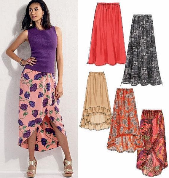 items similar to easy skirt pattern high low skirt