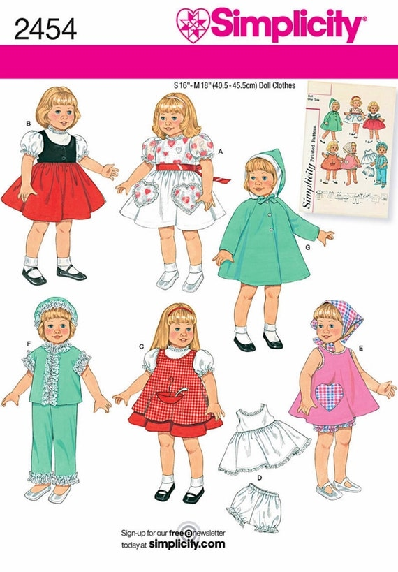 Vintage Doll Clothes Patterns Doll Clothes Pattern With