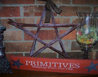 Handpainted Wooden Sign Primitives Blessings from our Past