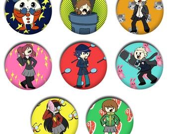 Persona 4 Button Set