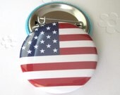USA flag   Pinback Button Badge, pins for backpacks, Pinback Button gift, Button OR Magnet - 1.5″ (38mm)