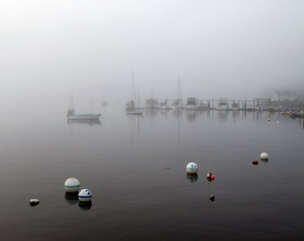 Landscape Seascape  Harbor in the Fog