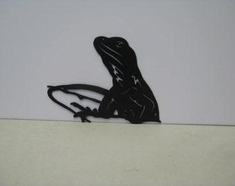 Lizard 006 Metal Wildlife Yard Wall Art Silhouette
