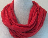 Soft Varigated Red Jersey Infinity Scarf