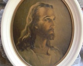 Vintage Home & living, Spirituality Religion, religious home decor,  Lithograph Jesus wall hanging, Christmas Easter