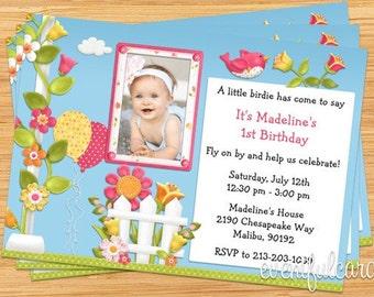 Little Birdie Birthday Party Invitation
