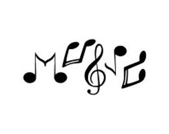 Music laptop decal car window decal window decal iron on decal