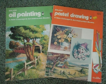 Vintage Craftint Art instruction Books - Set of Two