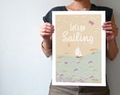 Sailing, Graphic Art Print Poster