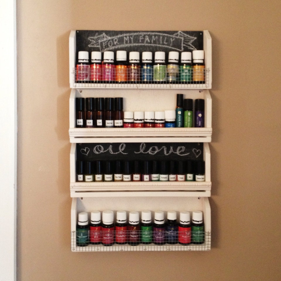 Essential Oil Shelf With Chalkboard By Shop24 On Etsy