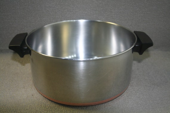Revere Ware 4 1/2 Qt.Dutch Oven and Lid Stainless Steel and Copper