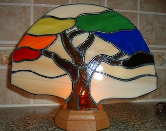 Stained Glass Tree of Life Fan Lamp (custom)