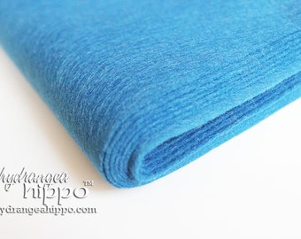 10 Sheets - Denim Heather BLUE - Wool Blend Felt - 12 x 18 inch sheets