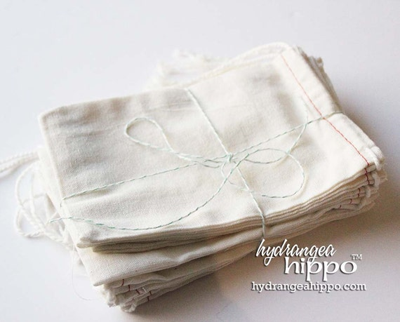 NEW ---- 4x6 Cotton Drawstring Bags, Set of 10