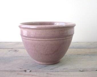 Vintage Purple Stoneware Pottery Mixing Bowl