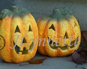 Jack O Lanterns Hand Made Photo Magnet