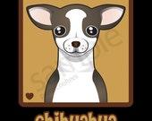 Chihuahua Cartoon Heart T-Shirt Tee - Men's, Women's Ladies, Short, Long Sleeve, Youth Kids