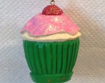 Hand Carved Cupcake Tree Ornament Wood Carving  Christmas Tree Ornament Gift For Mom OOAK Wood Carvers of Etsy