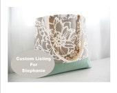 Custom Bridesmaid Tote Set for Stephanie