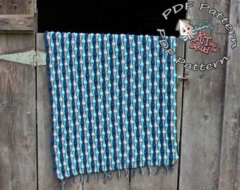 Instant download, Crochet afghan pattern, striped blanket pattern, crochet throw patten, easy baby blanket pattern, permission to sell