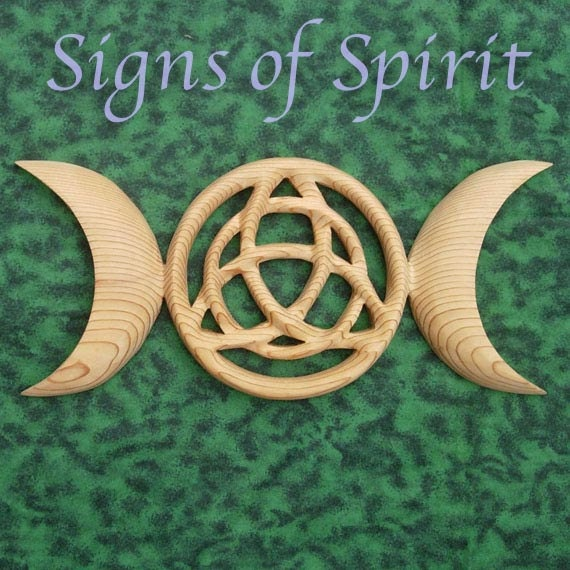 Triple Moon Goddess with Triquetra-Celtic Symbol- Modern Wiccan-Protection-3 Phases of Women-Maiden, Mother, Crone