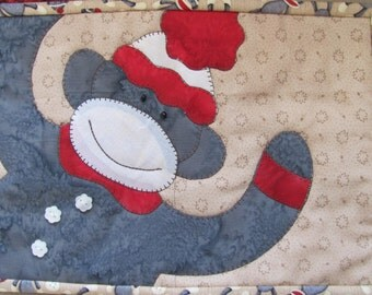 Monkey Love Mug Rug PDF Pattern