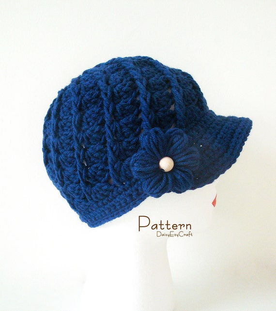 Crochet Hat Patterns Step By Step : Symbol Crochet PATTERN and Colorful step by step images PDF