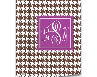 Personalized 3-Ring Binder - Houndstooth