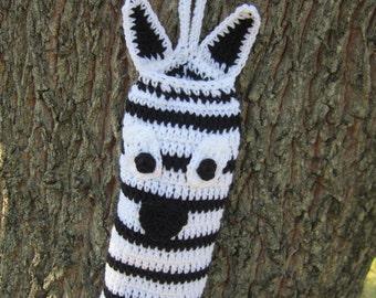 Plastic Bag Holder ~ Zebra Black and White Walmart Bag Holder ~ Zoo Animal Nursery Decor ~ Kitchen Recyclable Bag Holder ~ Jungle Animal