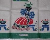 Vintage Black Americana Towel Broderie Mammy Knitting Unused Original Labels