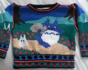 Totoro Sweater Size Four