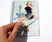 SALE! Trophy Wife : Pin-up Girl Naughty Notebook - Lift Cover to Reveal