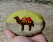 Felted Soap Yellow and Beige Soap with Camel (Oatmeal, Milk and Honey)
