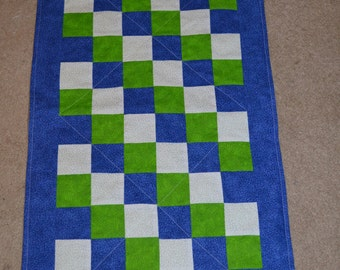 Blue and Lime green Changing Pad (115)