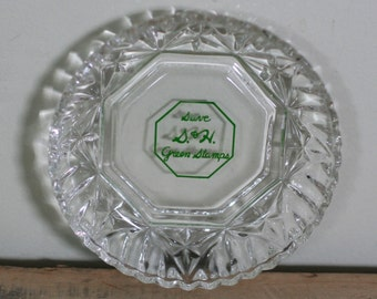 vintage S&H green stamps ashtray or pin dish