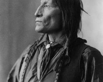 8 1/2 x 11 reproduction image of Wild Robe Indian Chief suitable for framing.