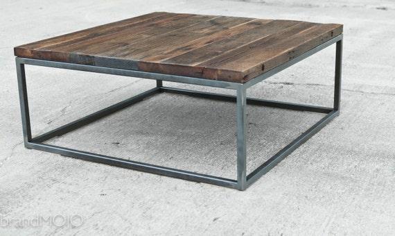 Like this item. Reclaimed Wood Coffee Table Steel Base Industrial Table
